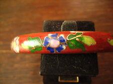 bezaubernder vintage Cloisonnée Emaille Armreif mit Blüten emailliert Handarbeit