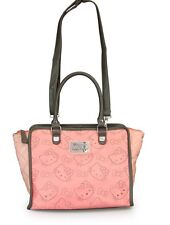 New Loungefly Hello Kitty Pink & Grey Perforated Fashion  Crossbody Tote Bag