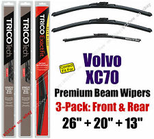 Wipers 3-Pack Premium Front Rear - fit 2008-2016 Volvo XC70 - 19260/200/13G