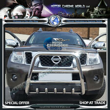 NISSAN NAVARA D40 HIGH LOGO BULL BAR NUDGE A-BAR 2005-2010 S.STEEL ON OFFER NEW