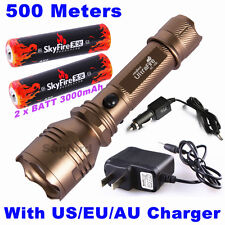 500meter 1000lumen CREE Q5 LED TACTICAL POLICE 18650 FLASHLIGHT TORCH LIGHT C6BN