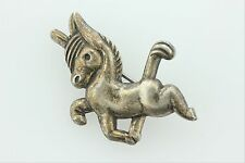 Vintage Coro Sterling Silver Pony Carnival Carousel Merry-Go-Round Horse Pin