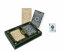 KEM Arrow Black and Gold Bridge Size Standard Index Playing Cards, New & MINT!