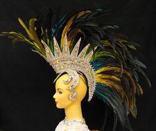 Da NeeNa MUM Mohawk Drag Queen Dress Cabaret Showgirl Feather Headdress