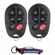 2 Replacement for Toyota Sienna 04 05 06 07 08 09 10 11 12 13 14 15 16 Remote 6b