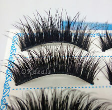 Fashion 5 Pairs Natural Eye Lashes Makeup Handmade Thick Fake False Eyelashes