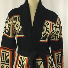 Cardigan Southwest Aztec Print Sweater SZ M Dimension by Milford USA Open Front