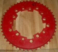 Vintage NOS Old School BMX Addicks 47th Red Chainring