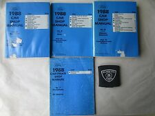 1988 FORD MUSTANG MARK VII THUNDERBIRD SERVICE MANUAL PRE-DELIVERY POWERTRAIN