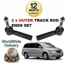 FOR CHRYSLER GRAND VOYAGER 2007-2010 2 OUTER LEFT & RIGHT TRACK TIE RACK ROD END