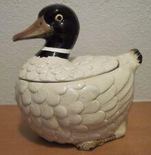 Vintage Otagiri OMC Khaki Campbell Duck Cookie Jar Beige/Brown/Black Japan