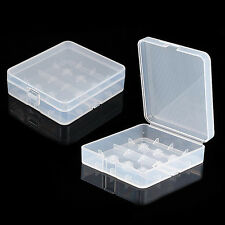 2pcs Clear Plastic Protective Storage Case Holder for 18650 18350 Batteries