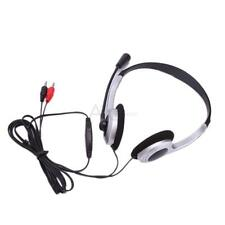Brand New Stereo Headphone Microphone Headset MSN Skype Talk for PC Computer US
