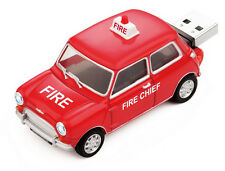 Classic Mini Cooper Car USB Memory Stick Drive 4Gb - Fire Chief