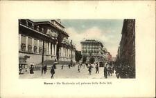 Roma ROM Italien ~1910/20 Via Nazionale col palazzo delle Belle Arti Personen