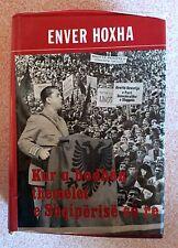 Kur u hodhen themelet e Shqiperise se re - Enver Hoxha. Albania Book 1984