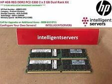 HP 4GB Reg DDR2 PC2-5300 2 X 2 GB Dual Rank Kit * 408853-B21 *