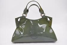 Authentic Cartier Hand Bag Marcello Greens Enamel 106242
