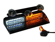LED Light Bar Windsheild Lighting Dash Deck Visor Warning Strobe Amber White