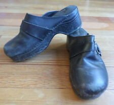 Bass Clogs Womens 7M Leather Black Studs Rings Harness Vintage?