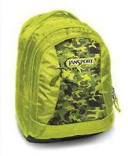 New Jansport Essense Alien Green Leaf Camo Backpack Bag