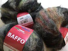 LOT of 3 Filatura di Crosa Fancy Baffo #3 Precious Metals- Long-Hair Mohair Yarn