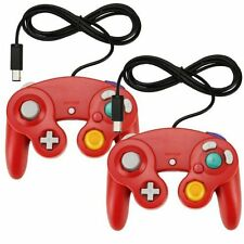 Lot Of 2X Classic Wired Gamepad Controller For Nintendo Wii GameCube Red 0Z