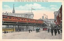 c.1915 Stores Trolley Car 149th St. & 3rd Ave. Bronx NY post card