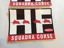 HF Squadra corse Lancia Badge Stickers Fulvia Beta Delta Rally Vintage style