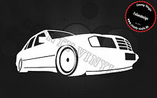 Aufkleber/Sticker Mercedes Benz Artwork W124 Oldschool,AMG E-Klasse Tuning Evo