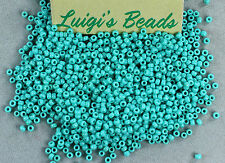 11/0 Round Toho Japanese Glass Seed Beads #55-Opaque Turquoise 15g