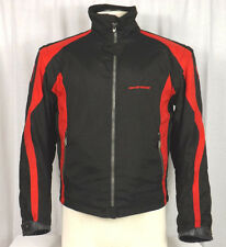 Dainese Mens Motorcycle Jacket Black & Red Size 46 - Removable Sleevers w/ Pads