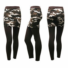 Womens Cotton Camouflage Mini Skirt leggings Straight Skirt leggings - Size L