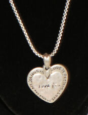 Love Is Heart Necklace Silver Tone Picture Photo Locket Style Adjustable Chain