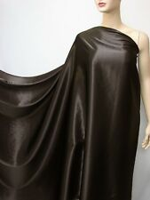 "3 Yards ""Dark Brown"" Pure Silk Fabric Satin Charmeuse"