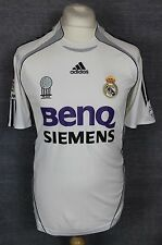 VINTAGE REAL MADRID HOME FOOTBALL SHIRT 06-07 ADIDAS MENS SMALL FIFA AWARD