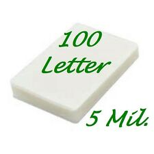 100 pack Letter Size Laminating Pouches Sheets  9 x 11-1/2  5 Mil.FREE CARRIER