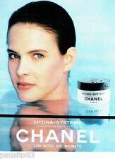 PUBLICITE ADVERTISING 116  1988  Chanel  cosmétiques creme Hydra-système