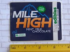 Cool Legal Marijuana STICKER: COLORADO IncrEdibles Mile High THC Chocolate Ganja