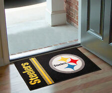"""Pittsburgh Steelers Rug Bathmat Welcome Door Mat 19"""" x 30"""""""