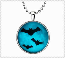 Vogue Punk Style Ghost bats Glow in the Dark Stainless Steel Necklace Pendant