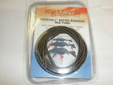 Rig Marole Freefall Micro Braided Tubing 1m 3pk Brown / Black Carp fishing