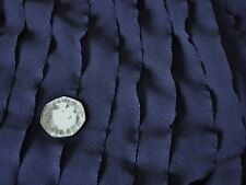 RUFFLED STRETCH NET MESH-NAVY -DRESS FABRIC-1.0 METRE