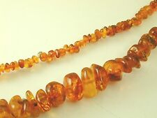 "Antique Amber shard graduated necklace 31"" long 41.0g"