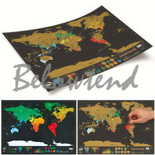 Personalized Scratch OFF MAP World Map Poster Personal Luckies Travel Log Gift