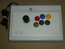 MICROSOFT XBOX 360 HORI VX FIGHTING STICK USB JOYSTICK JOY FIGHT ARCADE-  White