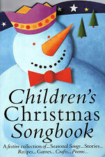 CHILDRENS CHRISTMAS SONGBOOK Piano Vocal Guitar Music Book Carols Songs Recipes