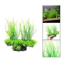 Aquarium Green Artificial Plastic Grass Water Plant Fish Tank Ornament Decor