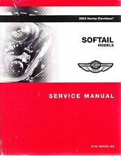 2003 Harley Softail Springer Heratige Classic Duece Fat Boy Night Repair Manual