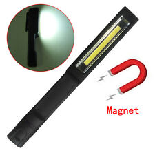 Portable COB LED Plastic Flashlight LED Lamp Light W/Magnetic And Clip Black